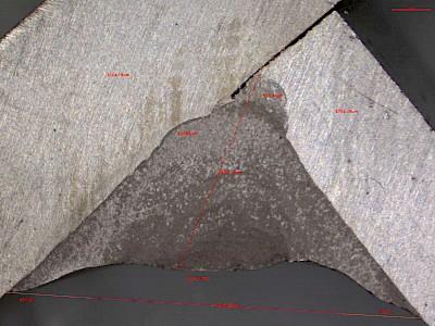 焊接熔深检测